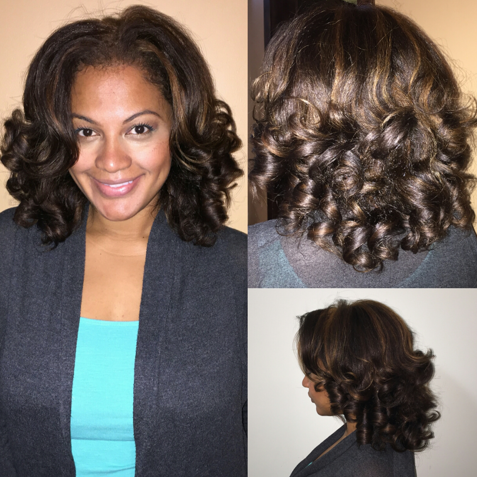 Hair style blow dry perm rods curls image solutioingenieria Images